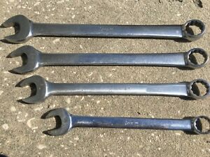 Lot Of 4 Snap On Tools Combination 12point Wrenches Oex32 Oex30 Oex28 Oex24