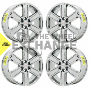 20 Gmc Acadia Denali Pvd Chrome Wheels Rims Factory Oem 2017 2018 2019 Set 5794
