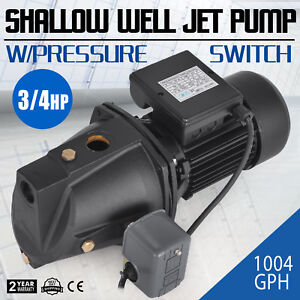 3 4 Hp Shallow Well Jet Pump W Pressure Switch Supply Water Farms 3420rpm