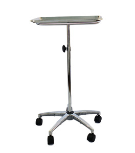 Mayo Instrument Stand Chrome Plated With Stainless Steel Tray Asp Medical