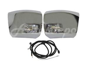 Front Bumper End Chrome With Fog Light Harness For Silverado 1500 2007 2013