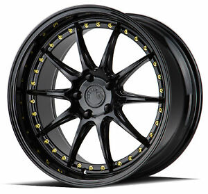 18x9 5 Aodhan Ds07 5x114 3 22 Gloss Black Wheels new Set
