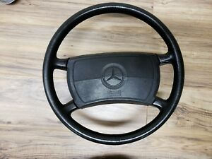 86 91 Mercedes Benz W126 560sel 420sel 300 Oem Black Leather Steering Wheel