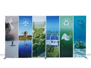 20ft Straight Trade Show Display Backdrop Custom Single Side Print Pop Up Stand