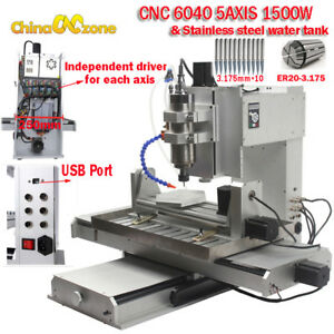 6040 5axis Cnc 1500w Router Engraving Machine Metal Copper Millingcuttin Machine