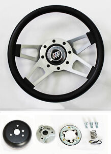 69 93 Buick Skylark Gran Sport Grant Black 4 Spoke Steering Wheel 13 1 2