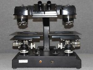 Vintage Bausch Lomb High Power Stereoviewer Stereo Viewer Lab Microscope
