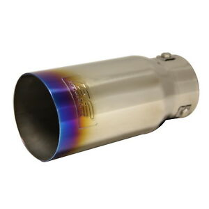 Dc Sports Bolt On Burnt Titanium Steel Exhaust Muffler Tip 7 5 X 3 5 X 3
