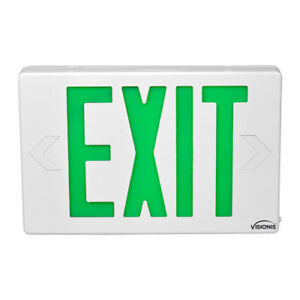 Emergency Led Exit Signs Series Visionis Vis esg 6 Inch Green Exit Sign Light