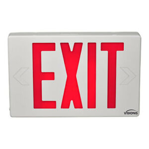 Emergency Led Exit Signs Series Visionis Vis esr 6 Inch Red Exit Sign Light