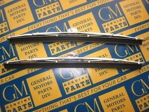 1949 1953 Buick Cadillac Oldsmobile Windshield Wiper Blades Pair Stainless
