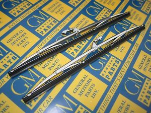 1953 1956 Buick Cadillac Oldsmobile Pontiac Windshield Wiper Blades Pair