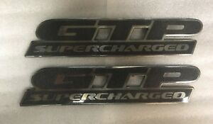 2000 01 02 03 04 2005 Pontiac Bonneville Gtp Supercharged Side Door Emblems Pair