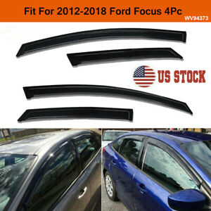 4pc Smoke Window Visors Sun Rain Guards Vent Shade Fit For 2012 2018 Ford Focus