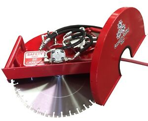 Hydraulic Concrete Cutting Handsaw 20 Flush Combo Saw diamond Blade Included