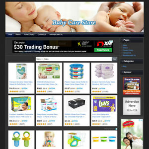 Baby Care Store Online Business Website For Sale Make Money Amazon Adsense