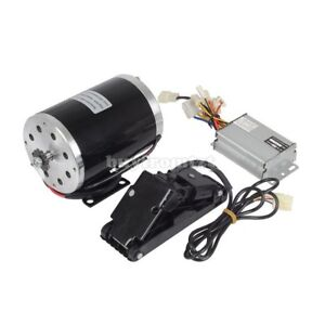 Dc Electric Motor Kit W Base Speed Controller Foot Pedal Throttle 48v 1000w