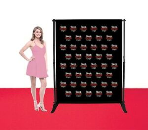 5 x6 Step Repeat Adjustable Banner Stand Telescopic Single Side Fabric Backdrop