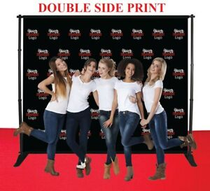 10 x8 Step repeat Adjustable Banner Stand Doubleside Fabric Telescopic Backdrop