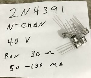Over 650 Motorola And Siliconix J fet 2n4391 New Transistors To 18