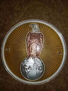 J i case Tractor Sunburst Eagle Front Hood Nose Emblem Medallion Badge A7600