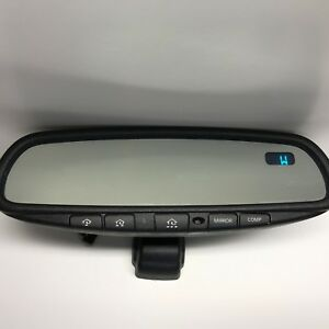 Gentex 313 Auto Dimming Rearview Mirror Blue Compass And Homelink discounted