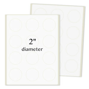 2 Inches Diameter Round Labels For Laser inkjet Printers Permanent Adhesive 6000