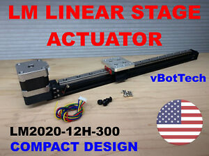 New Linear Stage Actuator Slide 300mm 11 8 Travel Stepper Motor Cnc