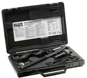 Klein Tools Knockout Punch Set With Ratcheting Wrench Power Hand Tools Home