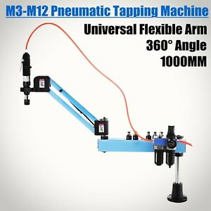 Vertical Pneumatic Tapping Drilling Machine 360 Angle 400rpm M3 m12 Updated