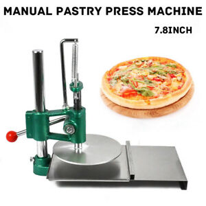 7 8 Pizza Dough Pastry Manual Press Machine Roller Sheeter Pasta Maker Us Stock