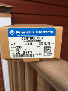 Franklin Electric 2801084915 Qd Submersible Motor Control Box 1 0 Hp 230v 1ph