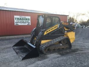 2016 New Holland C238 Compact Track Skid Steer Loader W Cab Only 900hrs