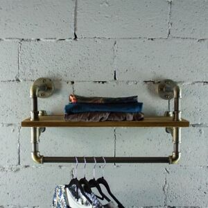 Os Home And Office Model P27 bb 27 Inch Decorate Pipe Shelf And Clothes Rack
