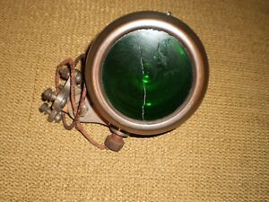 Rare Antique Car Truck Light Headlamp Rat Rod Hot Rod Green Lens Old Auto