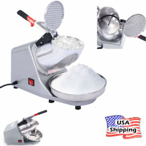 Commercial industrial Use Electric Ice Shaver Crusher Snow Cone Maker 143lbs Usa