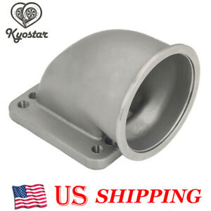 3 Stainless Steel Vband 90 Degree Elbow Adapter Flange Cast For T3 T4 Turbo New