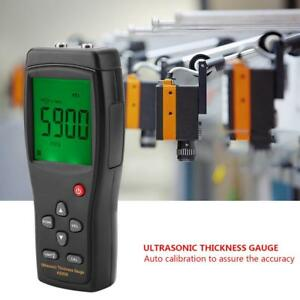 Smart Sensor As850 Ultrasonic Thickness Gauge Sound Velocity Metal Depth Tester