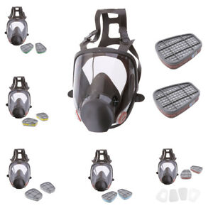 Single Full Face Respirator Gas Mask Visor Paint Chemical 7 Types