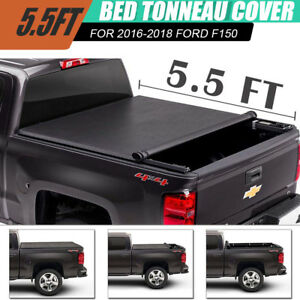 Fit 2014 2018 Ford F 150 5 5 Ft 66 Bed Lock Roll Up Soft Tonneau Cover
