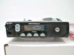 Motorola Pm400 Aam50kqf9aa3an Vhf 64 Ch 45w 146 174 Mhz Used W New Accessories