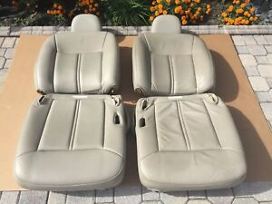 03 05 Lincoln Town Car Lh Rh Front Seats Leather Gray Stone Oem 4