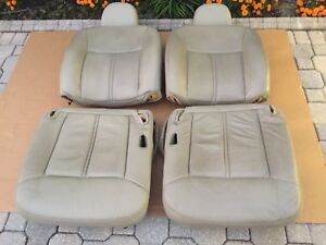03 05 Lincoln Town Car Lh Rh Front Seats Leather Gray Stone Oem 3