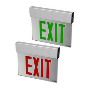 Visionis Pack Acrylic Exit Sign Light Led Vis esggl Green And Vis esrgl Red