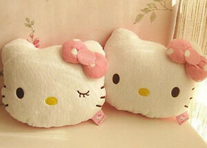 2pcs Lovely Hello Kitty Auto Car Seat Head Rest Cushion Pillows Neck Rest Pillow