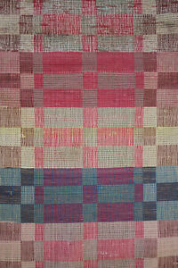 Colorful Rag Rug Vintage European Carpet Stair Runner 144 By 26 Inches Long