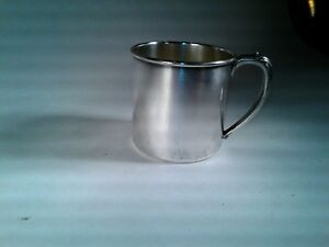 1948 Silver Plated Tudor Plate Oneida Community Baby Cup S Monogram