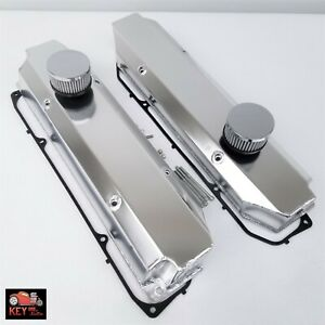 Big Block Dodge Chrysler Mopar Fabricated Aluminum Valve Covers Breather 383 440