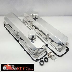 Big Block Ford Fe Polished Fabricated Breathers Aluminum Valve Covers 390 428