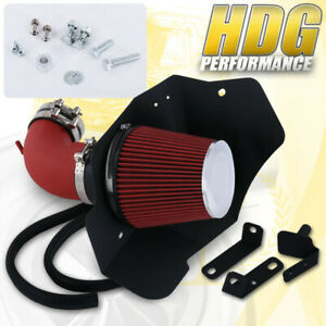 For 09 15 Cts v V8 6 2 Liter Red Piping Kit Air Intake Shield System Filter